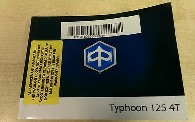 Typhoon 125 owners manual hand book