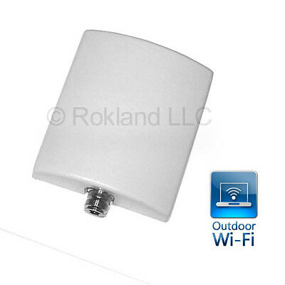 10 dBi indoor/outdoor Wi-Fi directional panel antenna with N-female connector