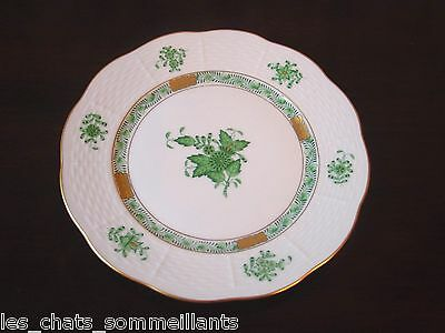 HEREND, CHINESE BOUQUET GREEN, BREAD & BUTTER PLATE(S), 516 1/2 / AV,  PRISTINE