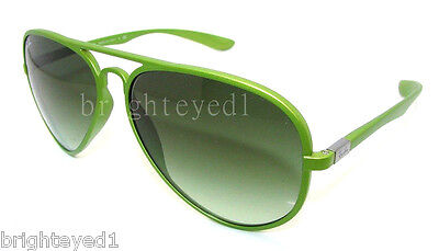 0c68564498a Authentic RAY-BAN Tech LiteForce Aviator Green Sunglass RB 4180 - 60868E   NEW