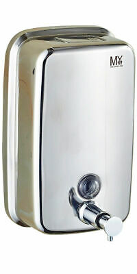 Novara 1000 ml Commercial Grade Polished Chrome Bathroom Wall Soap Dispenser