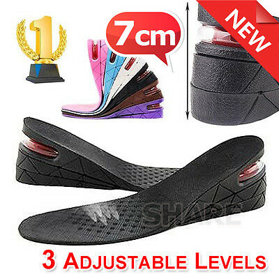 OZ New Shoes Height Insoles Increase Heel Air Cushion Gel Insert Taller Lift Pad