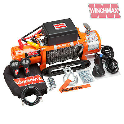 ELECTRIC WINCH 13500lb 12V SYNTHETIC ROPE WINCHMAX