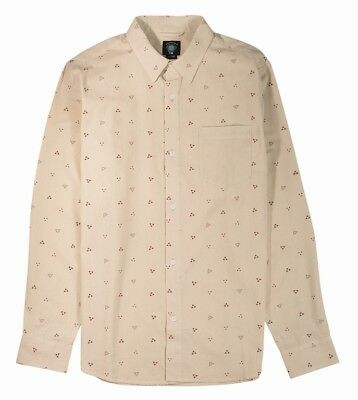 Fourstar Calico Men's long-sleeved Cream Shirt - Large (factory second)