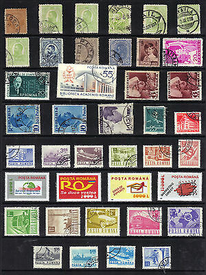 ROMANIA Stamp Collection Used REF:F512
