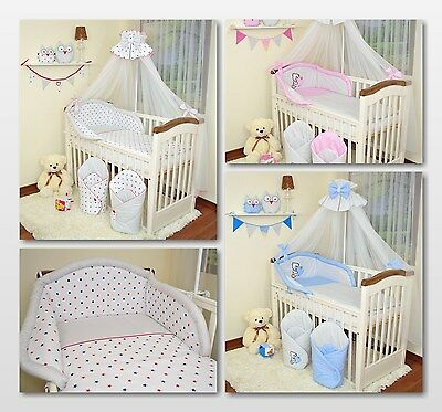 EXCLUSIVE 10 Pieces Baby Nursery Bedding Set To Fit Cot or Cotbed