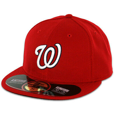Washington NATIONALS GAME Home Red New Era 59FIFTY Fitted Caps MLB OnField Hat