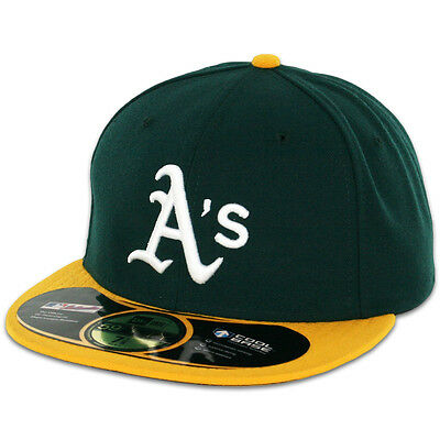 Oakland ATHLETICS A's HOME Game New Era 59FIFTY Fitted Caps MLB AC On Field Hats