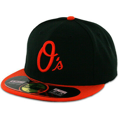 "Baltimore ORIOLES ALTERNATE ""O"" New Era 59FIFTY Fitted Caps MLB AC On Field Hats"