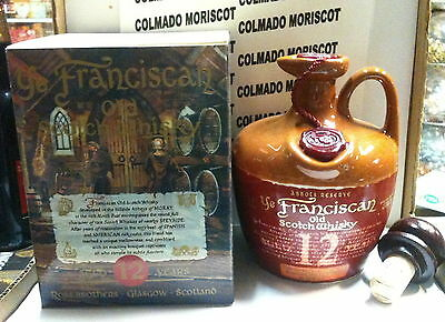 JUG CANECO YE FRANCISCAN SCOTCH WHISKY 12 yo ABBOTS RESERVE 70cl 40% FULL SEALED