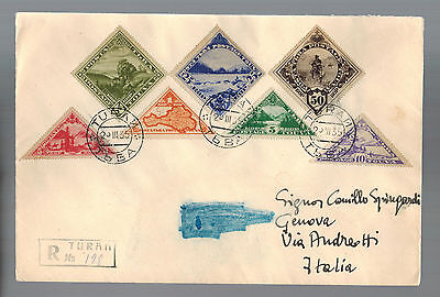 1935 Turan Tannu Tuva Registered Cover to Italy
