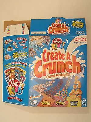 Empty POST Cereal Box 1999 CREATE A CRUNCH Cereal Mixing Kit 12.75 oz