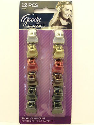 GOODY CLASSICS SMALL CLAW HAIR CLIPS - 12 PK. (04896)