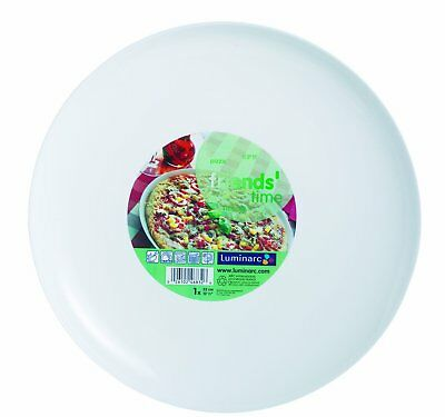 BHL Friends Time Round Pizza Plate, Large, White, 32 cm