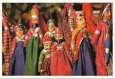 (38194) Postcard -  India - Rajasthan Puppets