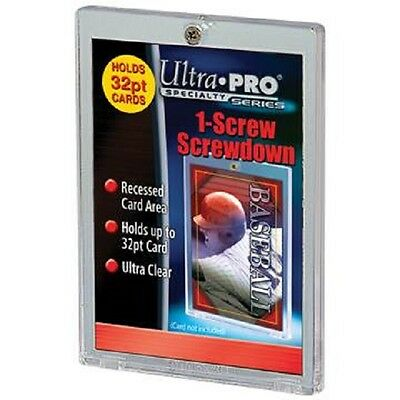 (100) Ultra Pro 1 Screw Screwdown Recessed 32pt Sports Card Holder No PVC