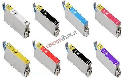 KIT 8 CARTUCCE COMPATIBILI PER EPSON STYLUS PHOTO R800 e R1800