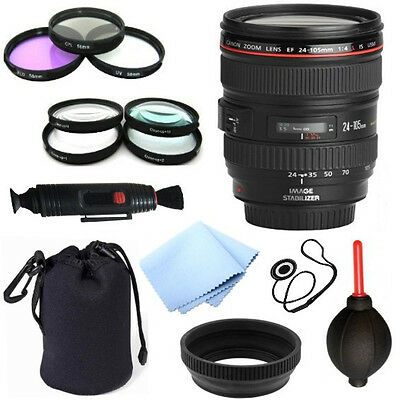 Canon EF 24-105mm f/4 L USM Lens + 13pc Bundle Deluxe Accessory Kit