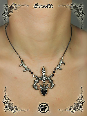Gothic Vampire necklace jewelry - Handmade medieval necklace with swarovski