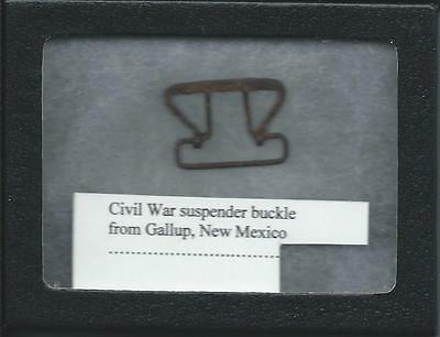 Civil War Suspender Buckle From Gallup, New Mexico               Ae