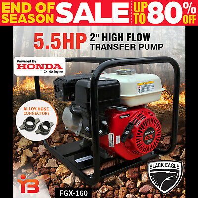 "New 2"" Fire Fighting High Pressure Water Transfer Petrol Honda Pump Irrigation"
