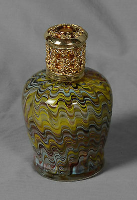 """Beautiful Bottle With Oil Lamp Wick Insert 6 1/2"""" Height"""