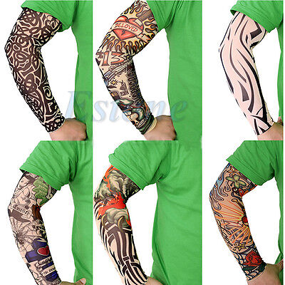 6 Pcs Fake Temporary New Party Realistic Tatoo Slip On Tattoo Arm Covers Sleeves