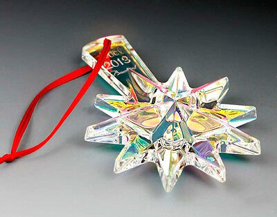 Signed BACCARAT 2013 Annual Iridescent Crystal Ornament NIB #2804703 $140