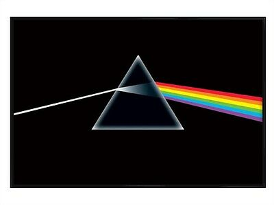 New Gloss Black Framed Pink Floyd The Dark Side Of The Moon Poster