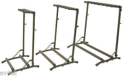 Multi-Guitar Rack Stand : Fits 3, 5 or 7 Acoustic, Electric or Bass Guitars