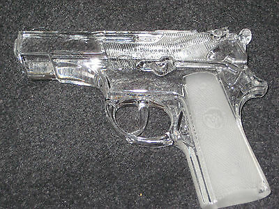9MM PISTOL 24% LEAD CRYSTAL GUN MADE IN GERMANY 1987---RARE