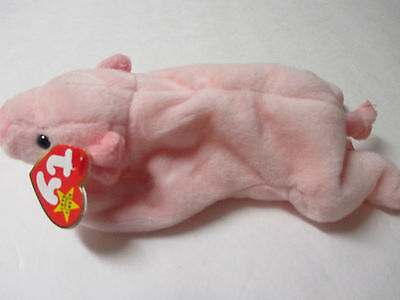 """Squealer"" Pig TY Plush Original Collection Beanie Babies Stuffed Animal Mint"