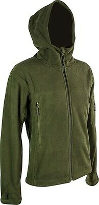 Tactical Fashion Hooded Fleece Jacket Olive Water Resistant Military Army Chic