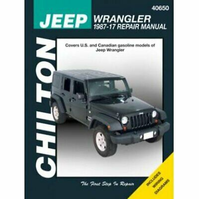 Chilton Repair Manual New Jeep Wrangler 1987-1995 40650