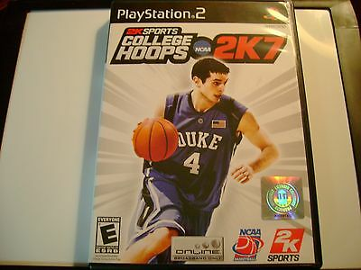 NCAA COLLEGE HOOPS 2K7 SONY PLAYSTATION 2 PS2 VIDEO GAME COMPLETE W/ MANUAL