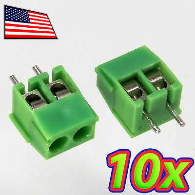 [10x] 2-Pin 3.5mm 2P Pitch PCB Mount Screw Terminal Block Connector KF350-2P