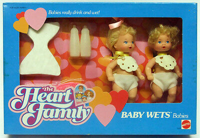 MATTEL THE HEART FAMILY BABY WETS BABIES