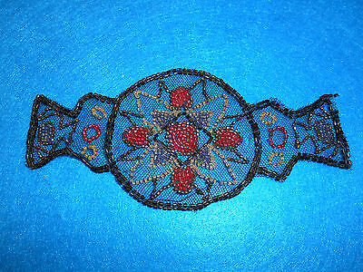 Vintage bead work on fabric