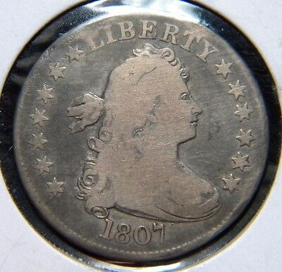 1807 Draped Bust Quarter Dollar***very Good Condition                   Dge