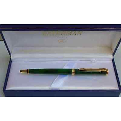 Waterman Preface Green  Marble & Gold  Trim  Ballpoint Pen New In Box