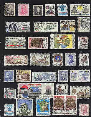 CZECHOSLOVAKIA Old STAMP Collection Used REF:F470