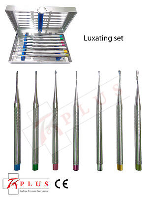 PDL Elevators Implant Dental Root Luxating Surgical Precise Tips 7pc Instruments