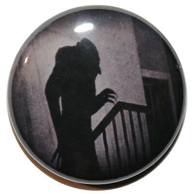 "1"" (25mm)  Nosferatu Shadow 1922 Vampire Movie  Horror Button Badge Pin"