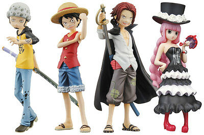 Bandai Half Age Characters ONE PIECE Promise of the Straw Hat Figure Set of 4 A