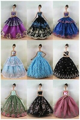 6 Different style Fashion Royalty Wedding Clothes/Dress/Gown For Barbie Doll S18