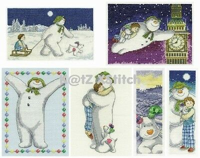 DMC - THE SNOWMAN AND THE SNOWDOG CROSS STITCH KIT (Choose From Six)