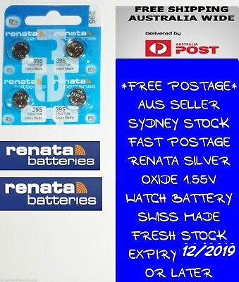 4 PCS Renata SR927SW 395 1.55V Silver Oxide Battery for Watch Swiss Made