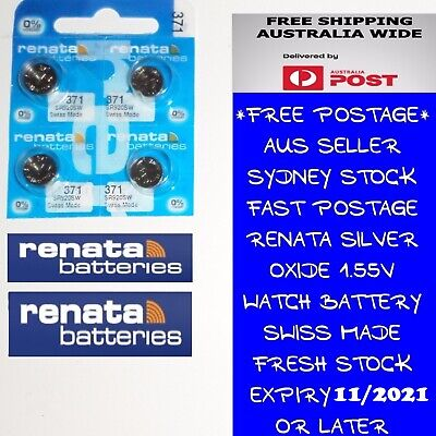 4 PCS Renata SR920SW 371 1.55V Silver Oxide Battery for Watch Swiss Made