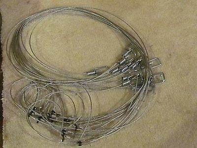 "1 Dozen 48"" Lopro Lock  Snares   Traps,trapping Loaded For Speed"