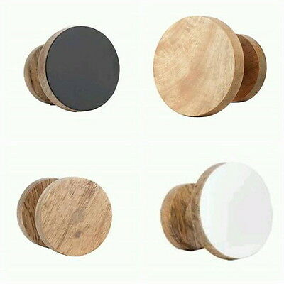 Round Hook Wooden Wall Mounted Knob Coat Holder Hat Jacket Bag Retro Wood Towel